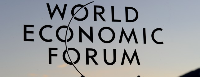 The logo of the World Economic Forum (WE