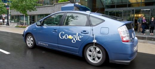 The Google self-driving car maneuvers th
