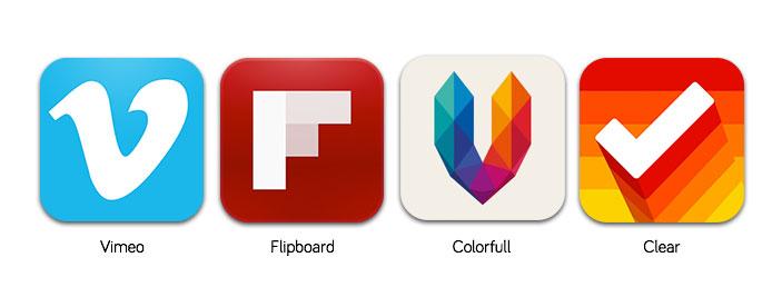 App icons that Focus on a unique shape