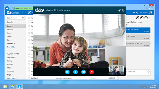 8400.SkypeOutlook Microsoft launches Skype for Outlook.com in the US, the UK, Germany, France, Canada, and Brazil