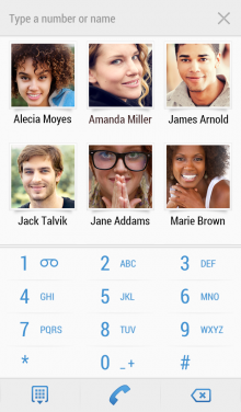 C. Contacts Dialer 220x376 4 million users on, Contacts+ takes its popular contact managment app to iPhone