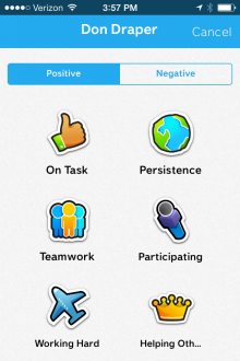 ClassDojo awards 220x330 ClassDojos mobile app now lets teachers manage, edit, share and sync student behavior reports