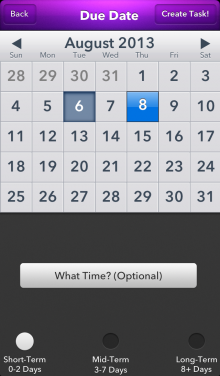 Due Date Setting 220x376 Apple Design Award winning Finish brings a host of updates to its deadline based to do list app