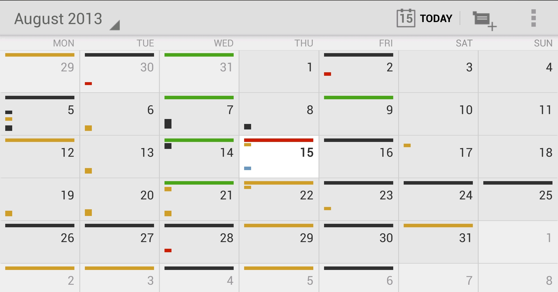 Monthly Calendar Views : Of the best calendar apps available for your android