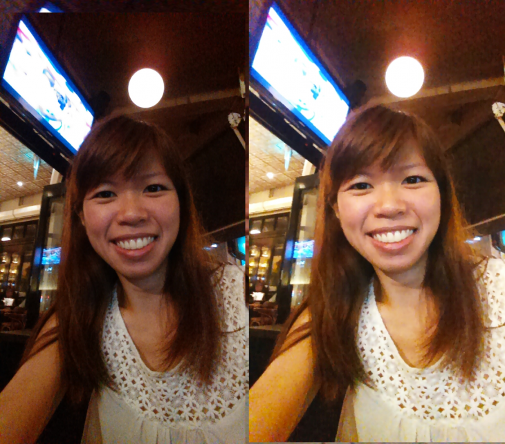 Beauty Camera for Android - before and after