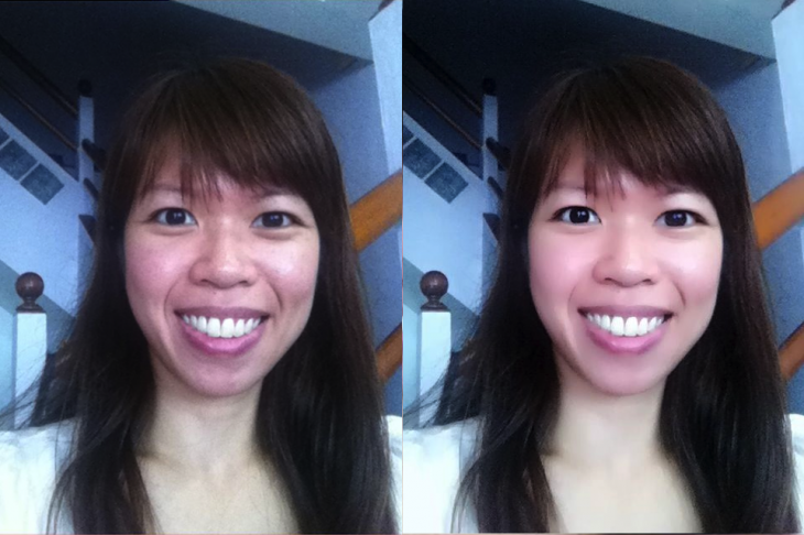 Beauty Plus for Android and iOS - before and after