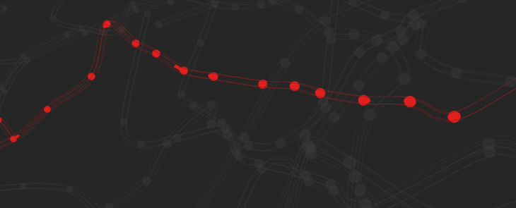 This stunning map shows every train on the London Underground traveling in real-time