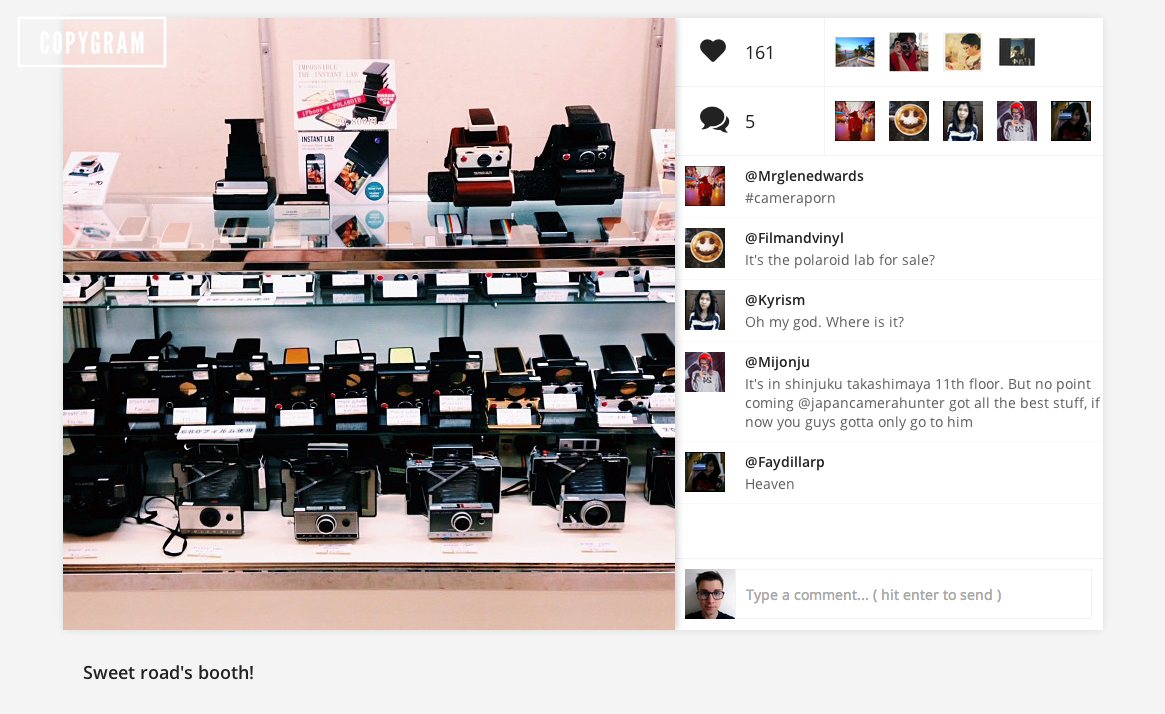 Screen Shot 2013 08 23 at 13.52.43 Copygram offers up a new, more beautiful way to browse Instagram on the Web