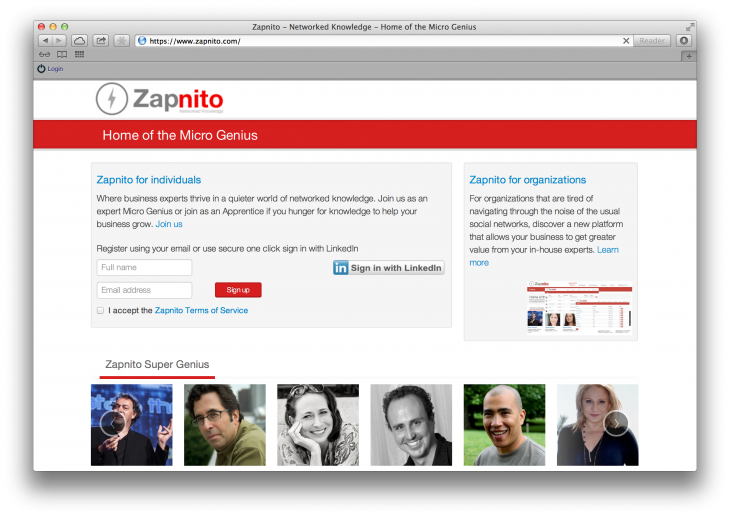 Screen Shot 2013 08 31 at 16.50.56 730x517 Niche networks: Why Zapnito wants to quieten the Web