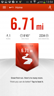 running mileage tracker