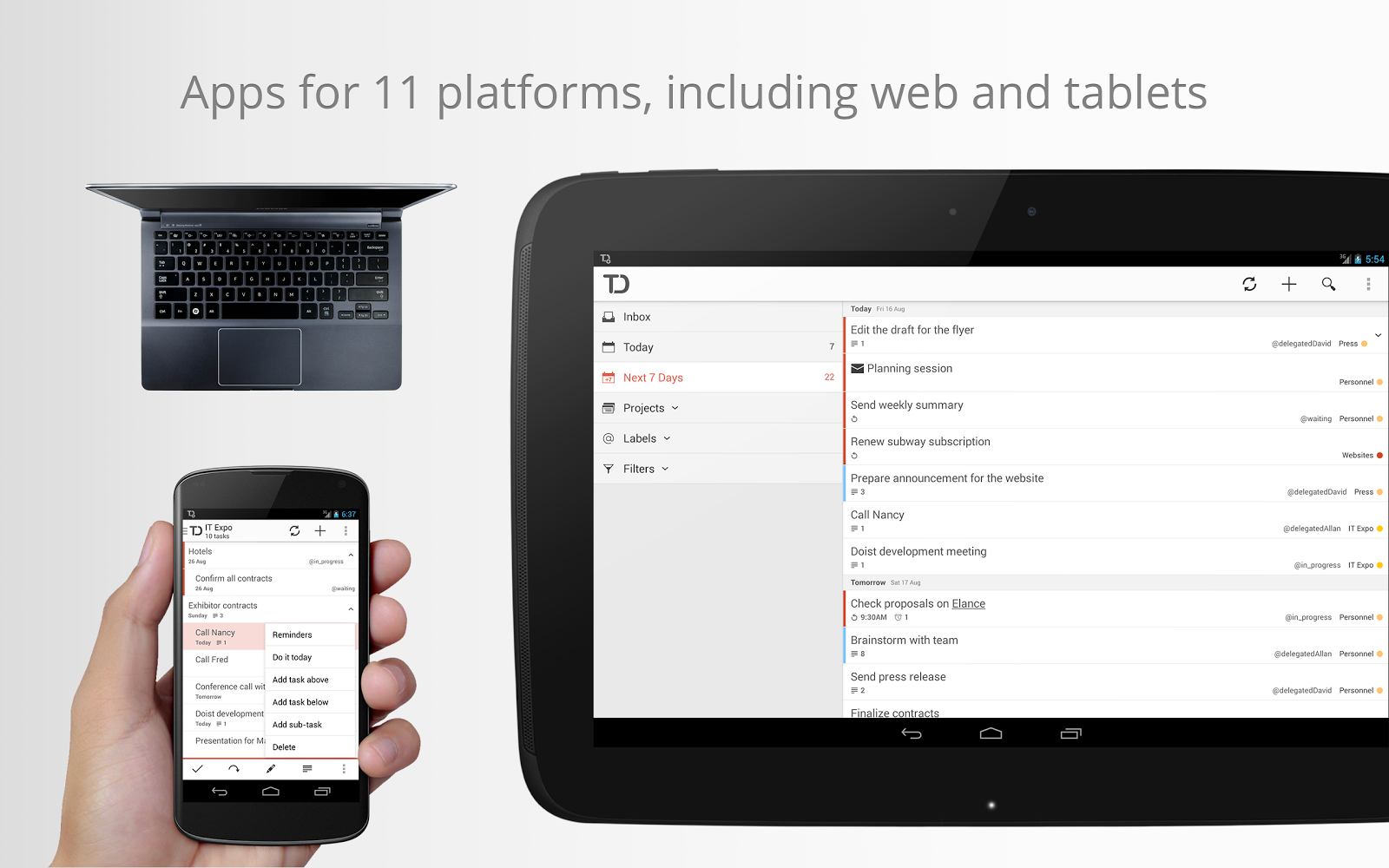 Todoist Android Nexus10 03 Todoist for Android gets revamped search, new premium features and a fresh lick of paint