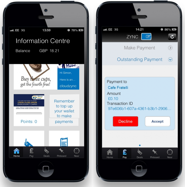 ZyncWallet 730x741 Zync Wallet launches in the UK: Pay using your phone, manage loyalty cards and get exclusive offers