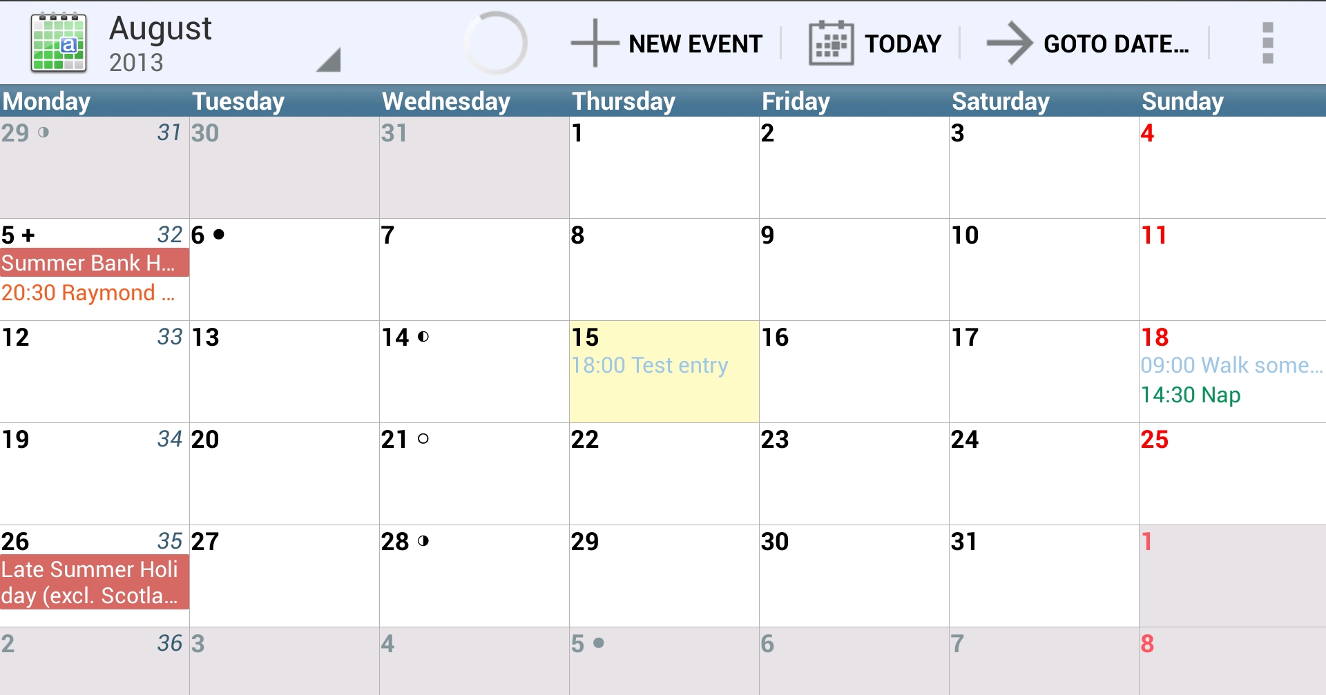 Weekly Calendar Android : Of the best calendar apps available for your android