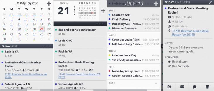 Agenda calendar app