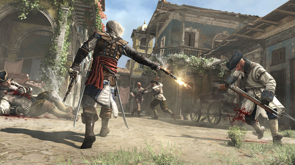 A shot from Assassin's Creed IV Black Flag, one of the PS4's launch titles.