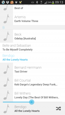 c1 220x391 Tunester: A minimalist, gesture based music player for Android