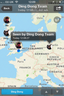 e 220x330 Ding Dong. Whos there? This app helps you share locations with friends in one tap