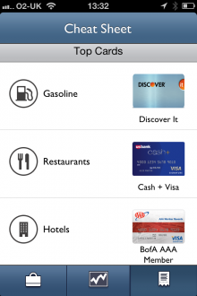 e9 220x330 Multiple credit cards? Reward Summit for iPhone tells you which one to use for the best kickbacks.