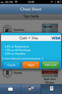 f8 220x330 Multiple credit cards? Reward Summit for iPhone tells you which one to use for the best kickbacks.