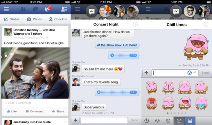 facebook ios 730x431 Facebook for iOS gets hashtag search, restaurant reservations from Pages, and faster Timelines on the iPad