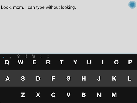 Fleksy writing app iPad