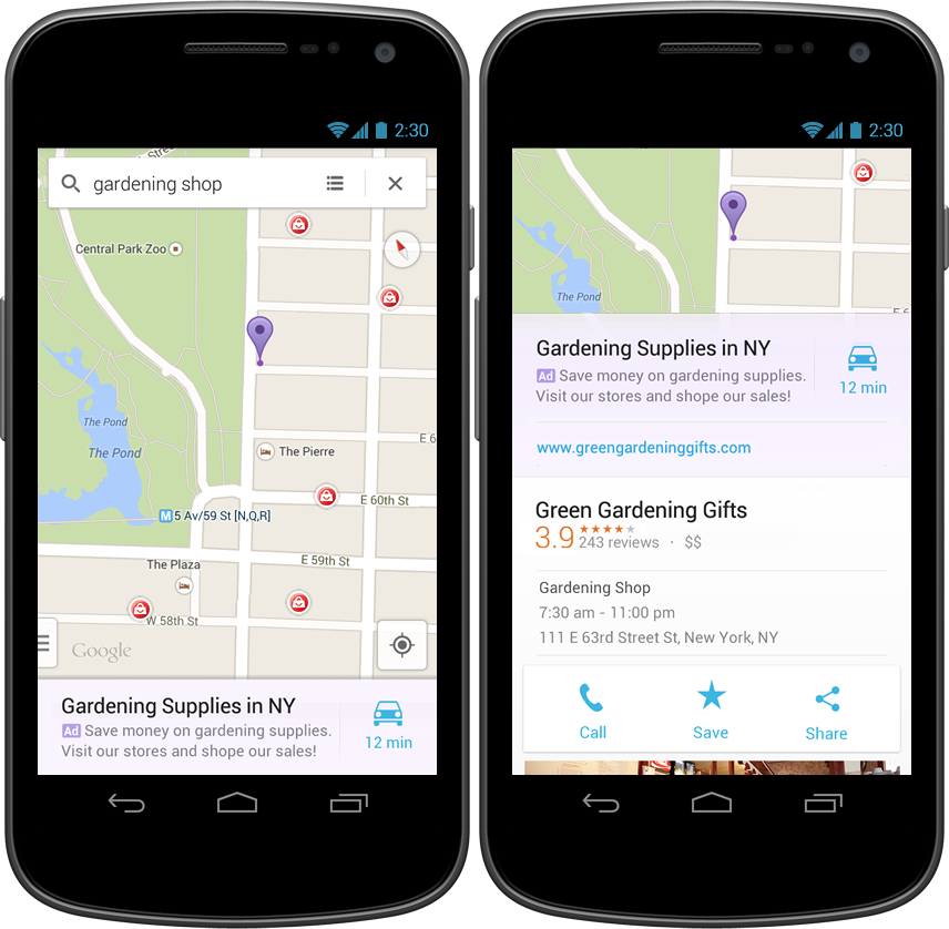 Google Maps for Android and iOS Gets 'Relevant' Ads at the Bottom