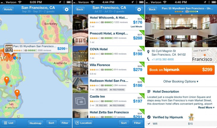 hipmunk 730x430 Hipmunk takes on HotelTonight with last minute accommodation service (oh, and adds fare alerts)