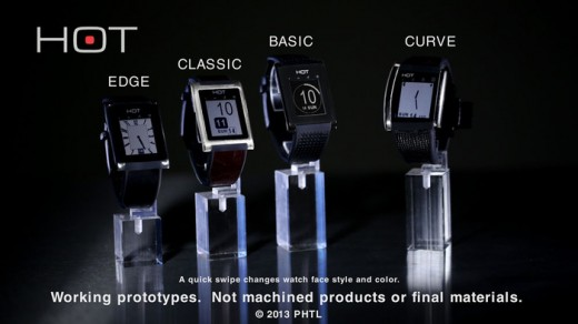 The HOT smartwatch turns your palm into a phone
