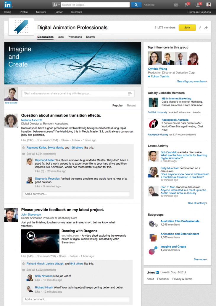 katy groups gtm1 730x1032 LinkedIn Groups get a fresh new look