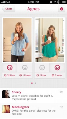 looks app ask your friends 220x390 Looks for iPhone lets you tag and categorize your wardrobe, filtering outfits to suit the occassion