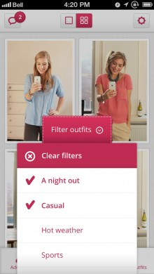 looks app what to wear 220x390 Looks for iPhone lets you tag and categorize your wardrobe, filtering outfits to suit the occassion