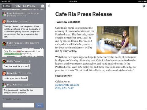 Quip writing app iPad