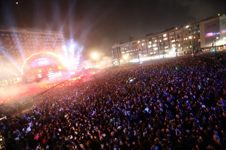 Tel Aviv Marks Centenary Celebrations In Rabin Square