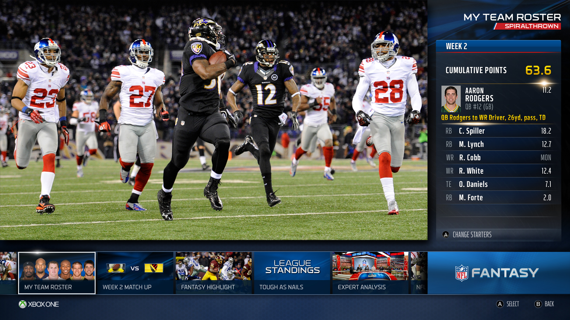 Microsoft Details new NFL and ESPN Apps for Xbox One
