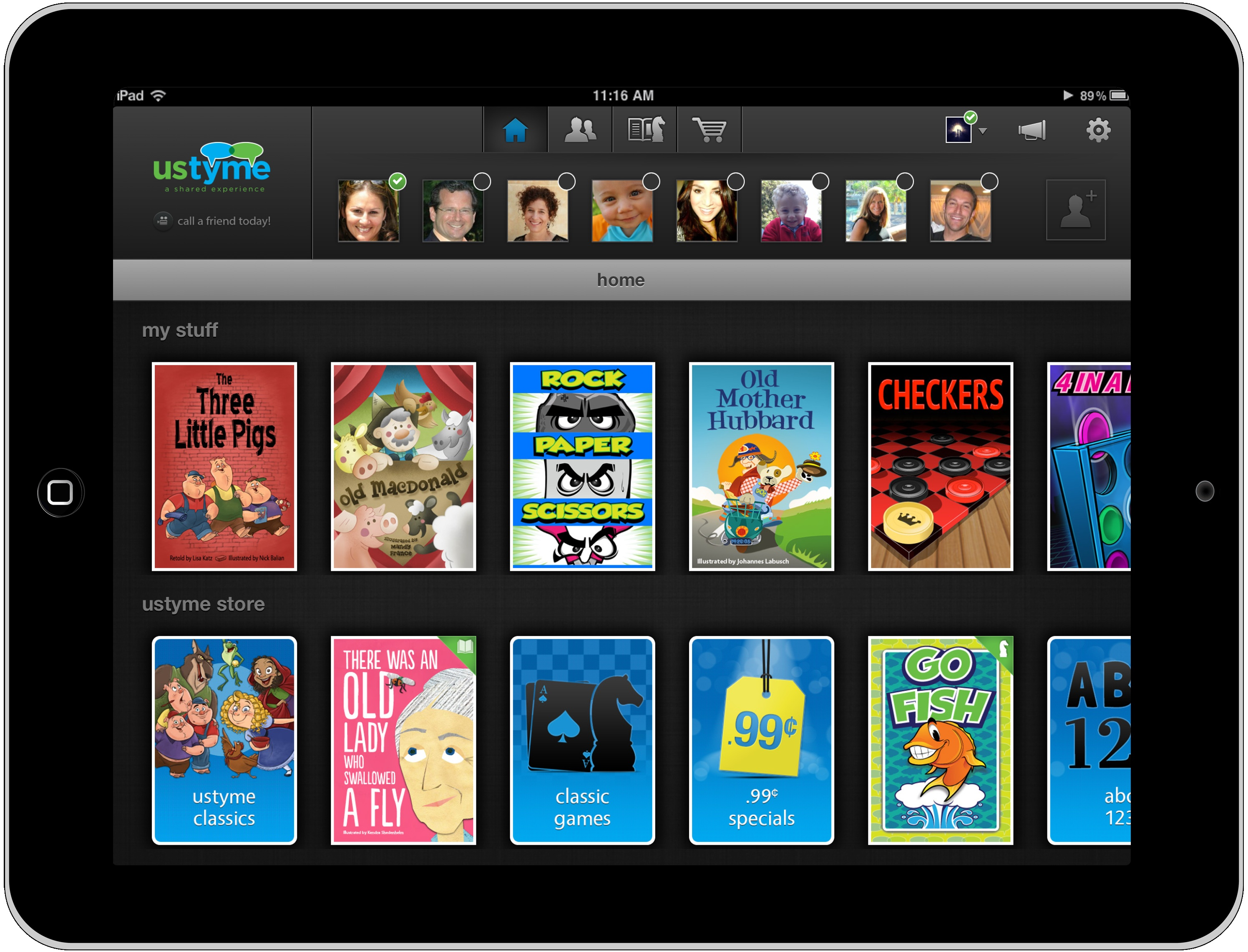 Ustyme Is a New Video Call iPad App with Children's Games