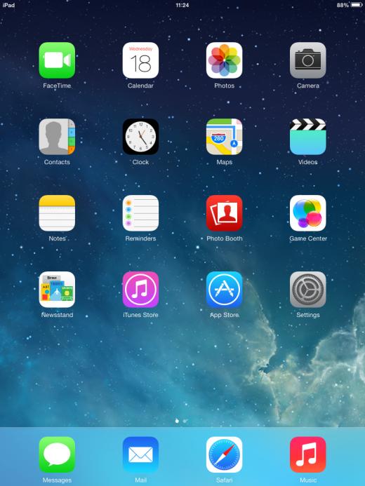 iO 7 on an iPad