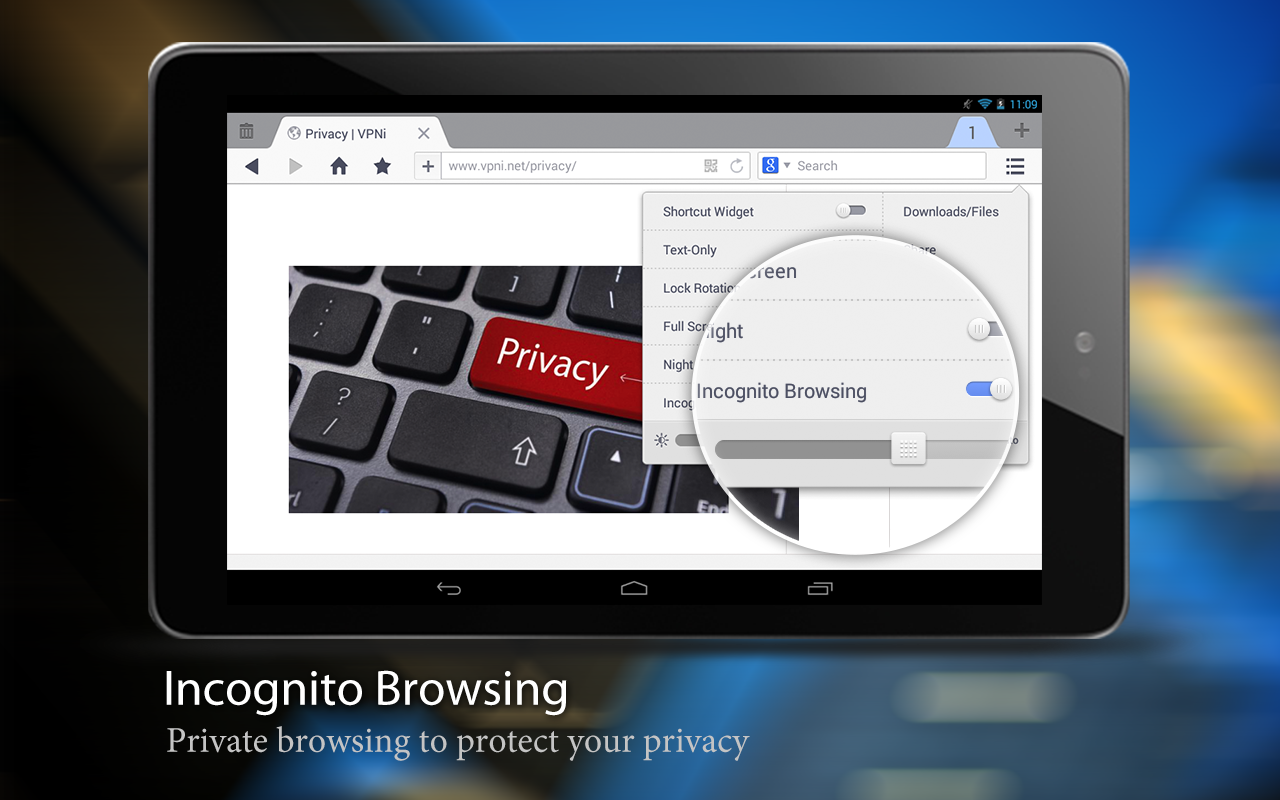 uc browser incognito mode