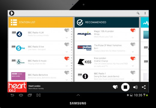 Radioplayer Tablet app 5 (Android) copy
