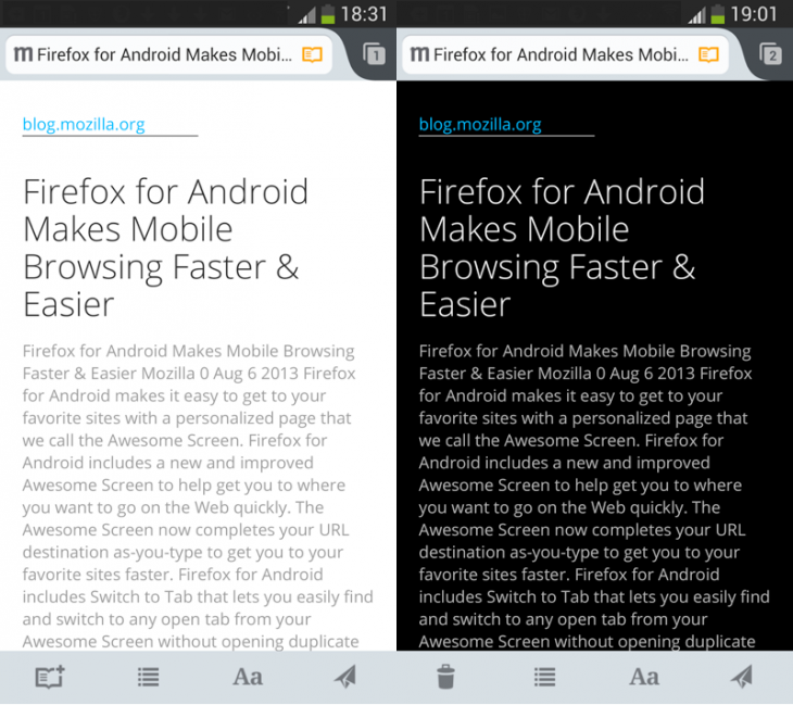 Reader US 730x649 Firefox 24 arrives with option to mass close tabs to the right, WebRTC support and NFC sharing on Android