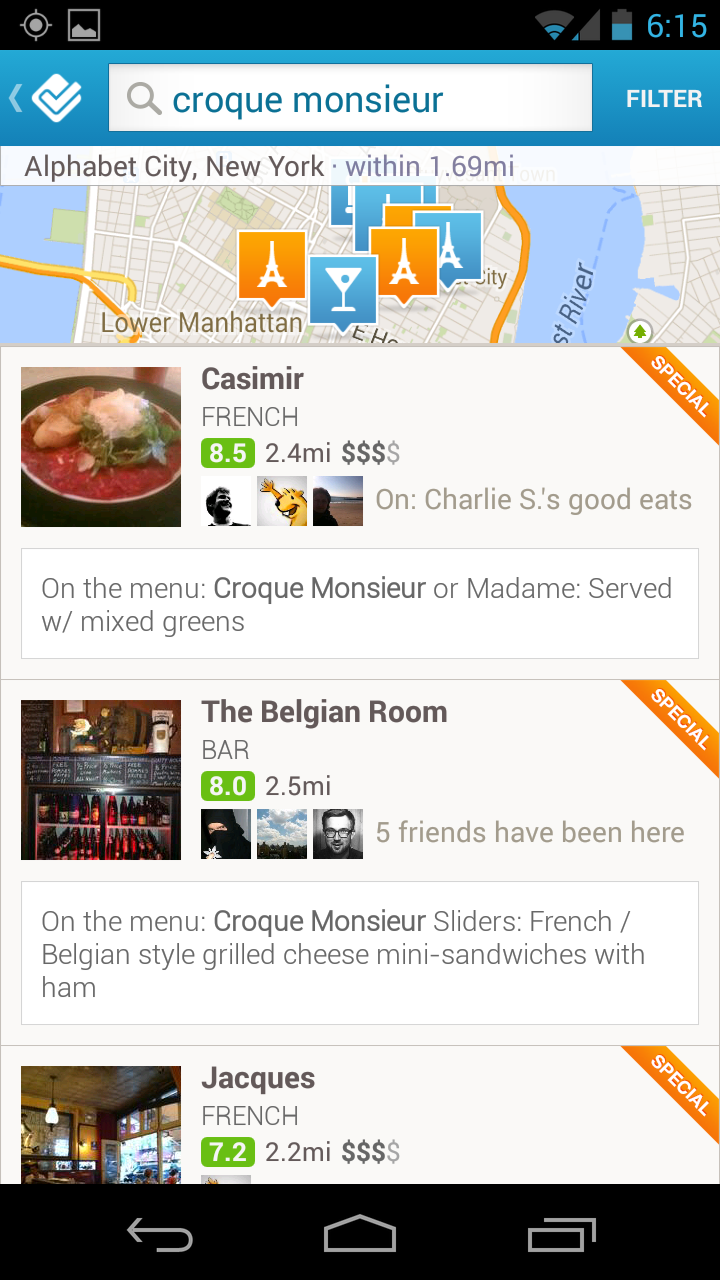 Screenshot 2013 09 06 18 15 34 Foursquare now lets you search 43 million menu items from over 500,000 restaurants