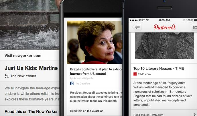 Pinterest pushes for the read-it-later market with new article pins