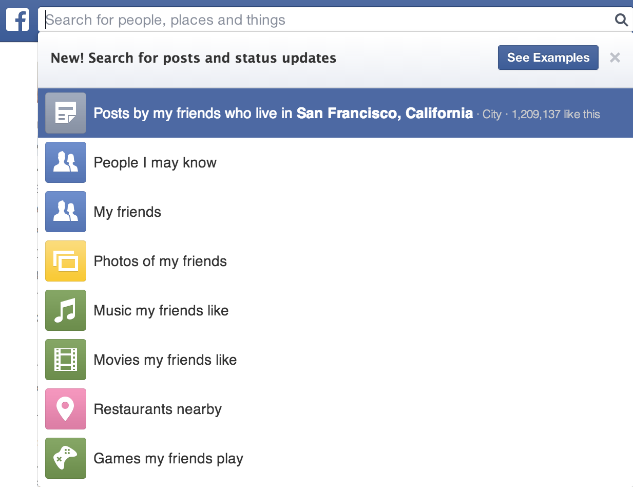 Facebook Graph Search Now Helps You Find Posts And Status Updates