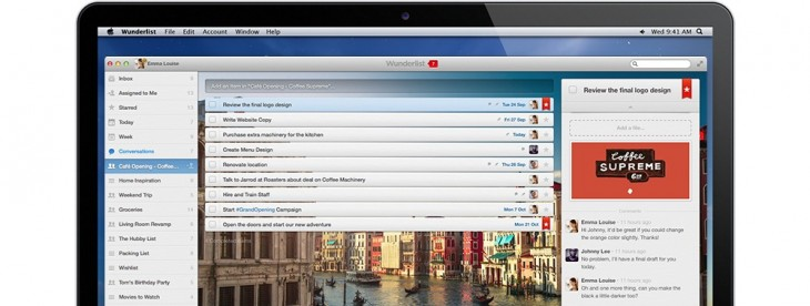 Wunderlist Pro adds comments to help you keep up with the progress of shared tasks