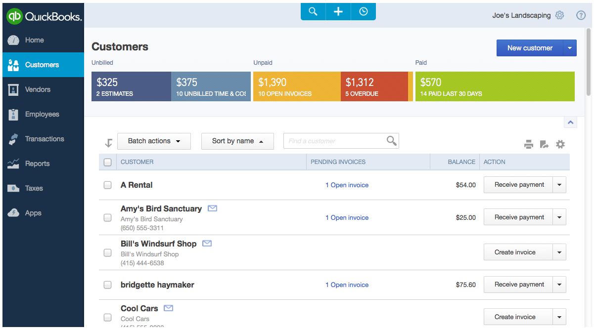 Intuit Reveals Refresh Of QuickBooks Online For The Web - Quickbooks invoice online
