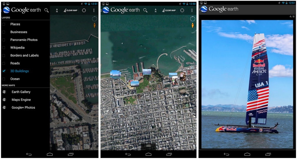 Google Earth for Android App Now Shows Geotagged Google+ ...