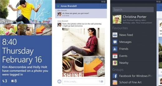 facebook for windows phone 520x277 Facebook for Windows Phone is now available for devices with 256MB RAM