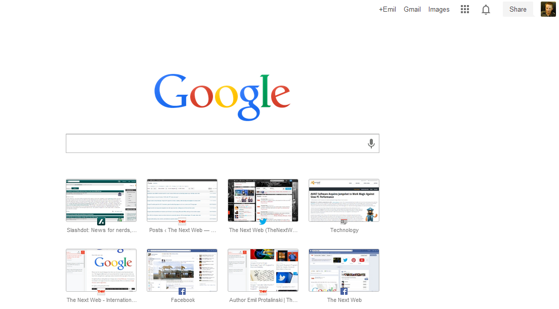 Google Launches New Tab Page for Chrome with a Search Bar