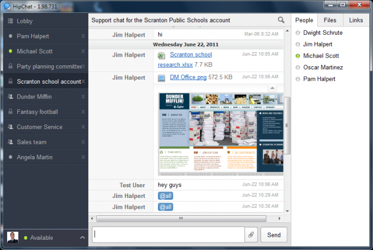 hipchat 2 730x490 6 messaging services with apps for desktop and mobile