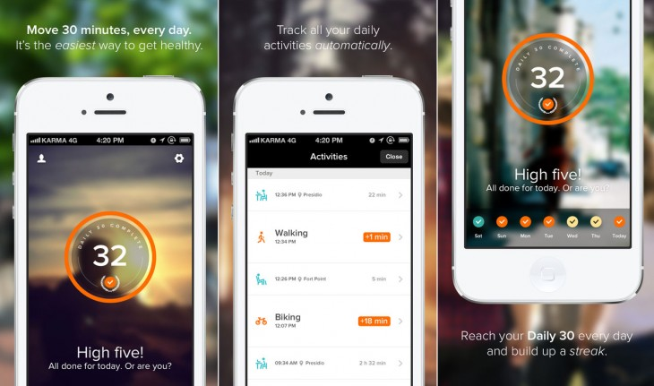 human 730x431 Fitness startup Human emerges from stealth with its iOS app to get you moving 30 minutes a day
