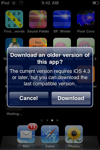 Apple Opens Backwards Compatibility App Downloads